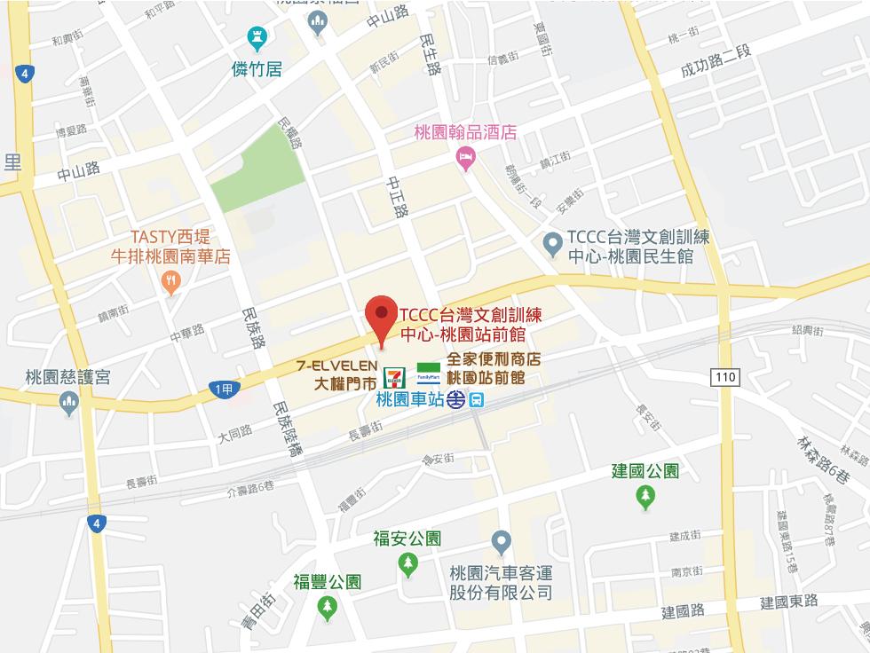 桃園站前館Google map_便利商店20191103-01
